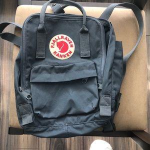 Fjallraven grey mini backpack